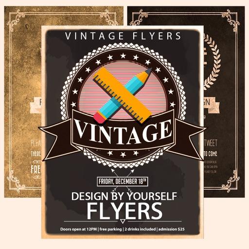 vintage flyers poster creator make posters diy by multi mobile d o o. Black Bedroom Furniture Sets. Home Design Ideas