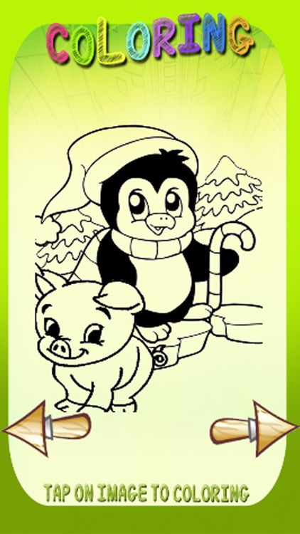 Free Coloring Book Game Penguin And Pig Version