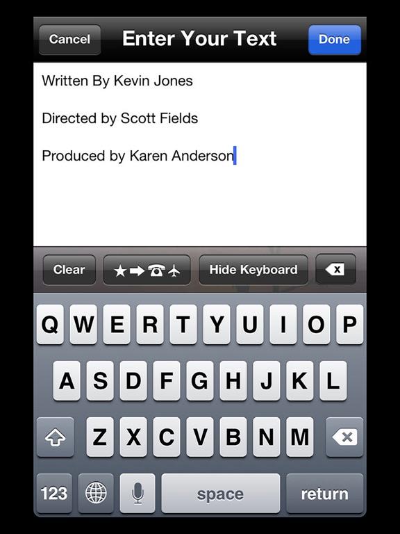 T l charger scrolling credits pour iphone ipad sur l 39 app for Application miroir pour ipad