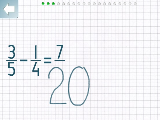 Subtracting Fractions Screenshots