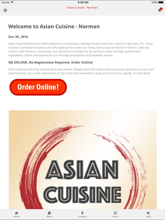 Asian cuisine norman on the app store for Asian cuisine norman ok