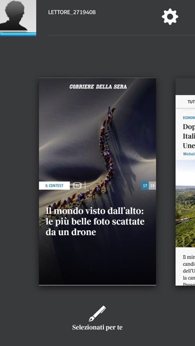 Screenshot of Corriere UP3