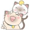 Simi and Suki in love for iMessage Sticker emoticon sticker