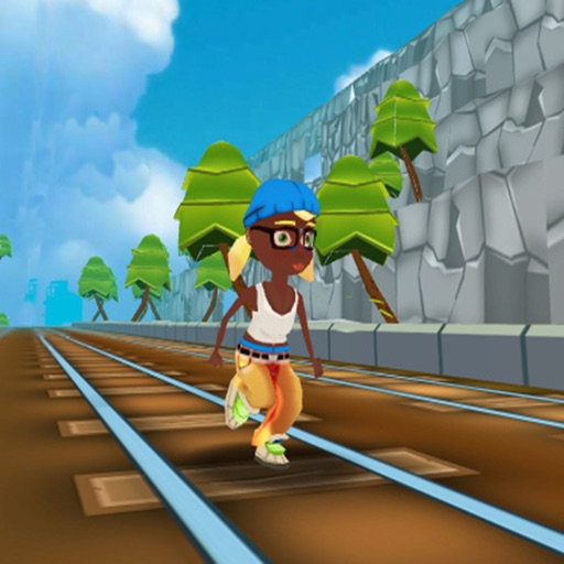 Girl Train Rush 3d Icon