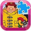 Learn Puzzles For Kids Games Jigsaw Fireman