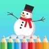 塗り絵の本 子供のためのクリスマスのサンタクロース。絵を描画する方法:学ぶためのゲーム