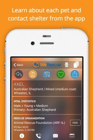 WeRescue – Adopt a Pet screenshot 1
