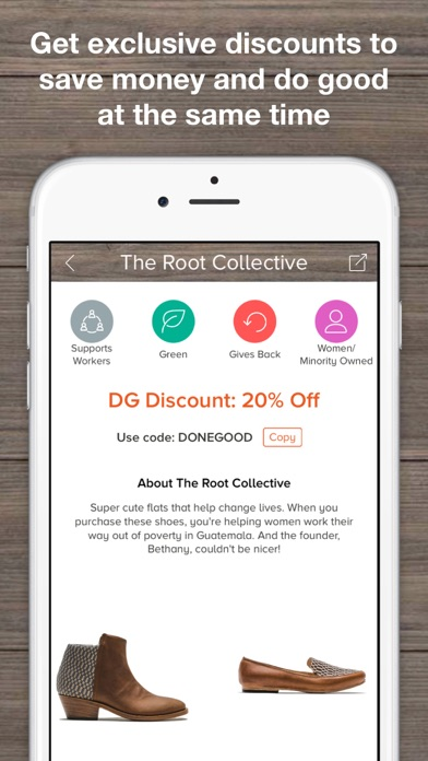 download DoneGood - Changing Mobile Shopping for Good apps 0