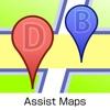 Assist Maps - закладки на картах , улица панорама