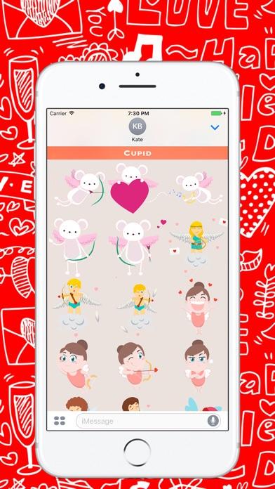 День Святого Валентина - Стикеры для iMessageСкриншоты 5