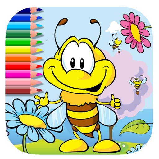 Coloring Book Games Bee And Flower Version iOS App