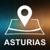 Asturias, Spain, Offline Auto GPS