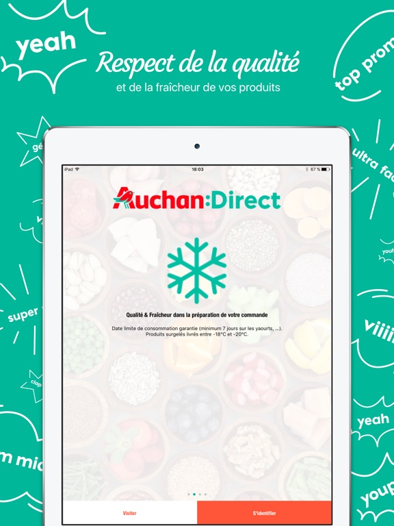 auchan direct dans l app store. Black Bedroom Furniture Sets. Home Design Ideas