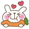 微笑兔子貼紙