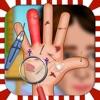 navidad celebridad mano médico y cambio de imagen