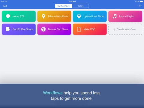 Workflow screenshot 1