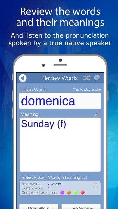 Learn Italian Audio FlashCards screenshot three