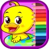 Coloring Book The Duck For Children