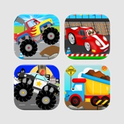 juegos de coches camiones trenes y polica para nios pequeos