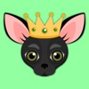 Black Chihuahua Emoji Stickers for iMessage