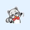 Little Cutie Raccoon Stickers