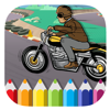 Kids Biker Coloring Page Game Free Edition Wiki