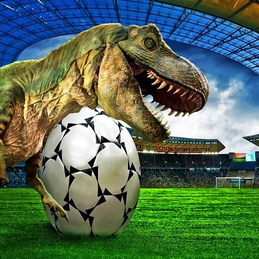 Calcio di rigore con Dinosauri-un gioco di simulaz