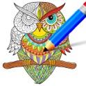 Gekritzel Färbung Buch - Zeichnen & Farbe icon
