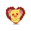 Chickens In Love - Valentine's Day Stickers Wiki