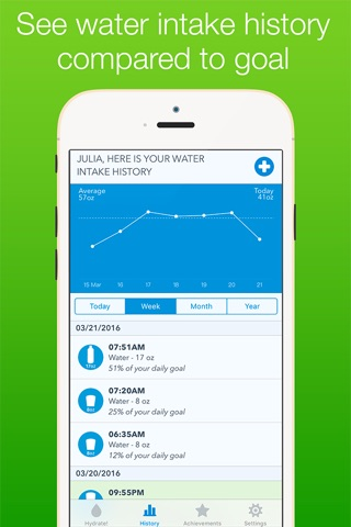 WaterMinder® screenshot 2