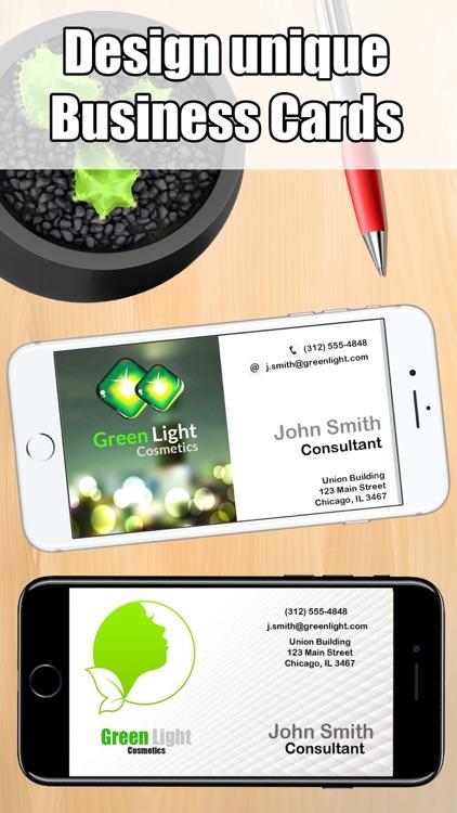 Business card maker design print business card by good life app business card maker design print business card reheart Images