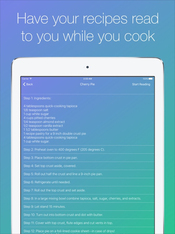RecipeReadr Screenshots