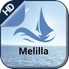 Melilla boating offline nautical chart for fishing