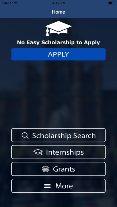 no essay scholarship search push to apply on the app store iphone screenshot 2