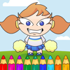 Page Pretty Cheerleader Coloring Game For Children Wiki