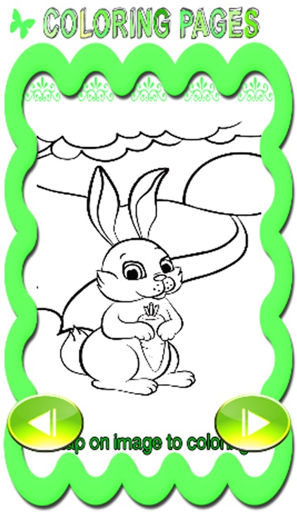 Bunny And Butterfly Coloring Page Game Education