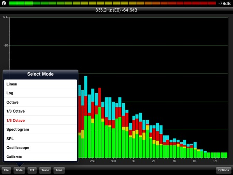 PocketRTA HD - Spectrum Analyzer screenshot 1