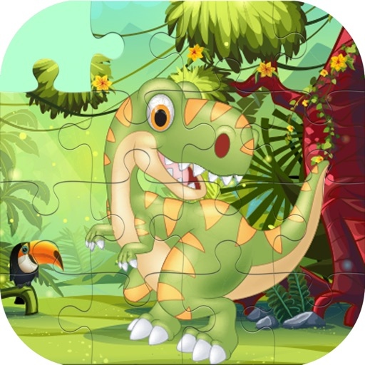 Cute Dino Train Jigsaw Puzzles for Kids iOS App