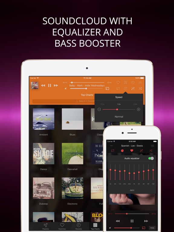 Soundy player for soundcloud on the app store ipad screenshot 1 ccuart Image collections