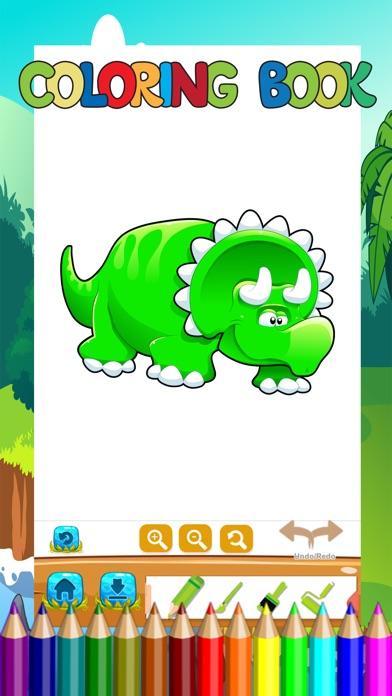 Screenshot of Libro di colorazione del dinosauro Bambini Imparar1