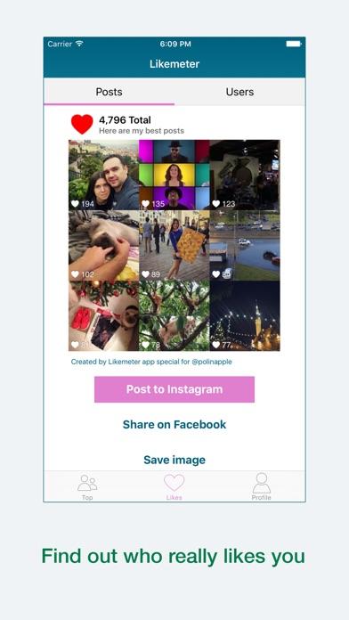 Likemeter - Analyze your Instagram likes screenshot three