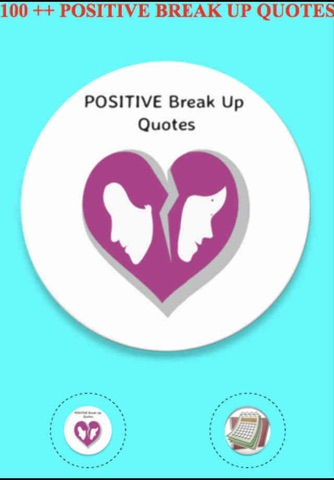 POSITIVE BREAK UP QUOTES screenshot 1