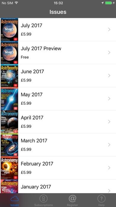 Astronomy Magazine review screenshots