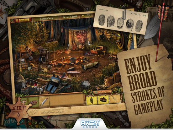 Screenshot #1 for Golden Trails: Hidden Object Adventure (Premium)