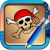 Draw and Paint Pirate Games Pro for Kids