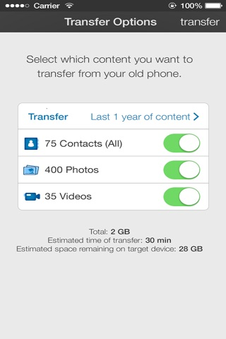 AT&T Mobile Transfer screenshot 2
