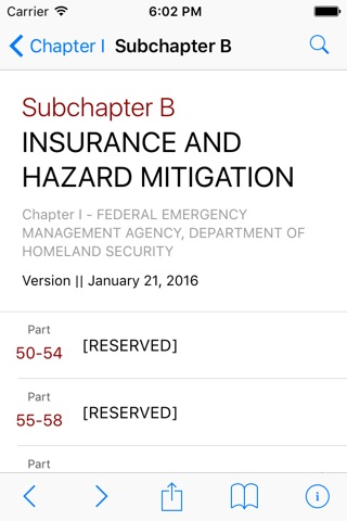 44 CFR - Emergency Management and Assistance (Law) screenshot 2