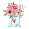Watercolor Love, Gifts & Quotes Stickers