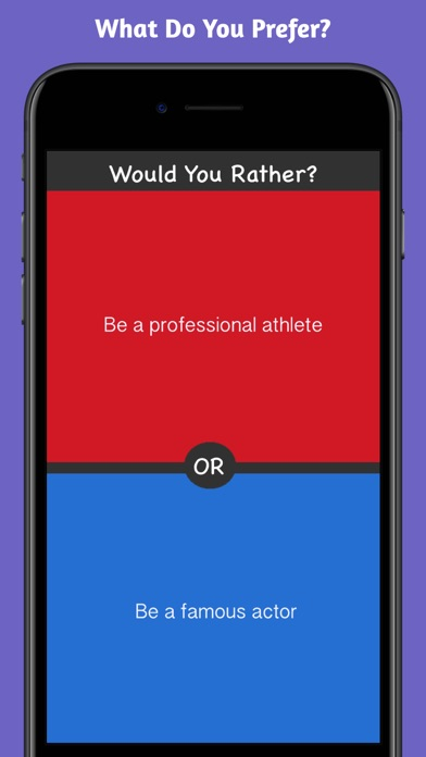 Screenshots of What Would You Choose? Rather Fun Party Game for iPhone