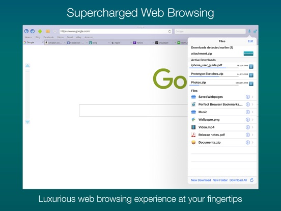 Perfect® Web Browser for iPad Screenshots